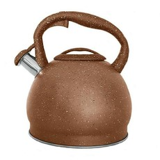 3Ltr Brown Marble Finish Non-Electric (Induction) Kettle with Whistle