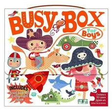 Busy Box for Boys- Book and Jigsaw Puzzle Set
