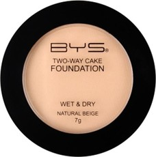 BYS Cosmetics Two Way Wet & Dry Foundation Natural Beige - 7g