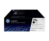 Genuine HP 78A Black Dual Pack LaserJet Toner Cartridges (CE278AD)