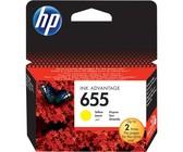 Genuine HP 655 Yellow Ink Cartridge Blister Pack (CZ112AE#302)