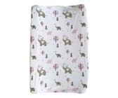 Changing Mat Cover - Baby Elephant - Pink