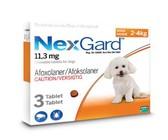 NexGard Chewable Tick & Flea Tablet for Dogs 2-4kg - 3 Tablets