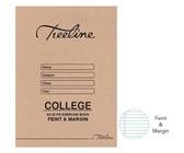 Treeline A4 College Exercise Books 32 pg Feint & Margin (Pack of 25)