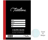 Treeline 3 Quire A4 288 pg Hard Cover Counter Books - Q&M (Pack of 5)