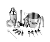 16 in 1 Stainless Steel Cocktail Shaker Set