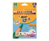 BIC Kids Evolution Triangle 12 Colour Pencils