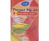 Bantex Project File With Flexible Cover 10 Pocket - Clear