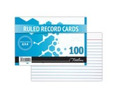 Treeline (6 x 4) Feint Ruled Record Cards - 102 x 152mm