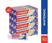 Colgate Total 12 Pro Whitening, Whitening Toothpaste Bulk Pack, 12x75ml