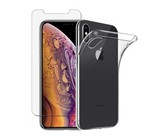 Digitronics Tempered Glass & Protective Clear Case for iPhone XS/X