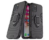 Shockproof Kickstand Ring Stand Armor Case for iPhone 11 - Black