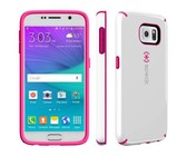 Speck Galaxy S6 Candyshell - White & Raspberry Pink