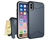 TUFF-LUV Shockproof Dual Layer Armour Case (with Stand & Card slot) for Apple iPhone 7/8 Rose Gold