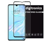 Digitronics Full Coverage Tempered Glass for Huawei P30 - Black