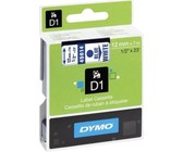 Dymo D1 12mm x 5.5m Black on White Permanent Polyester Tape
