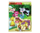 RGS Group Little Farm Wooden Puzzle- 6 X 2-3 Piece Puzzles