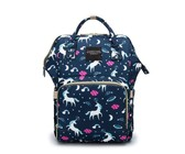 5 Pieces Multifunctional Mother Baby Diaper Traveling Bag- Red