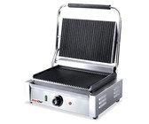 Commercial contact grill non-stick ribbed flat press toaster-SmartChef