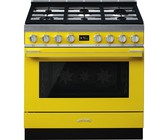 Smeg 90cm Yellow Portofino Cooker & Multifunction Oven - CPF9GMYW