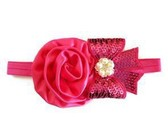 Diamante Solid Headband - Red