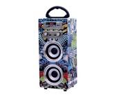 Polaroid Bluetooth Karaoke Beat Box Speakers with FM Radio -Blue Graffiti