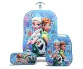 "16 Kids Rolling Carry On Luggage Trolley Schoolbag 3 Backpacks"""