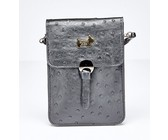 Brad Scott The Ostrich Sling Bag With Front Detail - Black