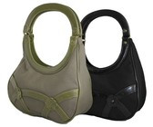 Fino Canvas Bag Set - Black and Green