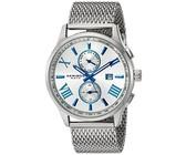 Akribos XXIV Men's Swiss Quartz Multi-function Blue Accented Watch AK905SS