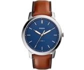 Fossil Mens FS5304 The Minimalist 3h Brown Leather Watch