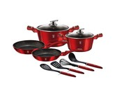 Berlinger Haus 10-Piece Marble Coating Cookware Set - Black Rose Edition