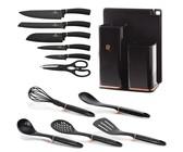 Royalty Line Non-Stick Coating Knife Set 7 Piece - Black