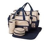 Multifunctional Baby Changing Handbag Set - Light Blue (5 Piece)