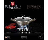 Berlinger Haus 24cm Marble Coating Stock Pot with Lid - Stone Touch Line
