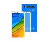 Tekron Full Cover 5D Tempered Glass Screen for Xiaomi Redmi 5 Plus - White