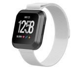 Tuff-Luv Stainless Steel Milenase Watch Strap for FitBit Versa - Silver