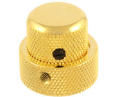 Allparts Guitar 1/2 Inch Tall Concentric Stacked Control Knob with Set Screw (Gold)