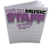 Ernie Ball Music Staff Paper