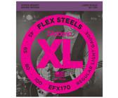 D'Addario EFX170 45-100 FlexSteel Bass Light Long Scale 4 String Bass Guitar Strings