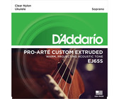 D'Addario EJ65S Pro-Arte Custom Extruded Soprano Nylon Ukulele Strings