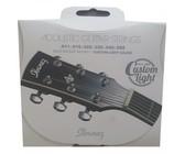 Ibanez IACS62C Coated 11-52 80/20 Bronze Custome Light Acoustic Guitar Strings